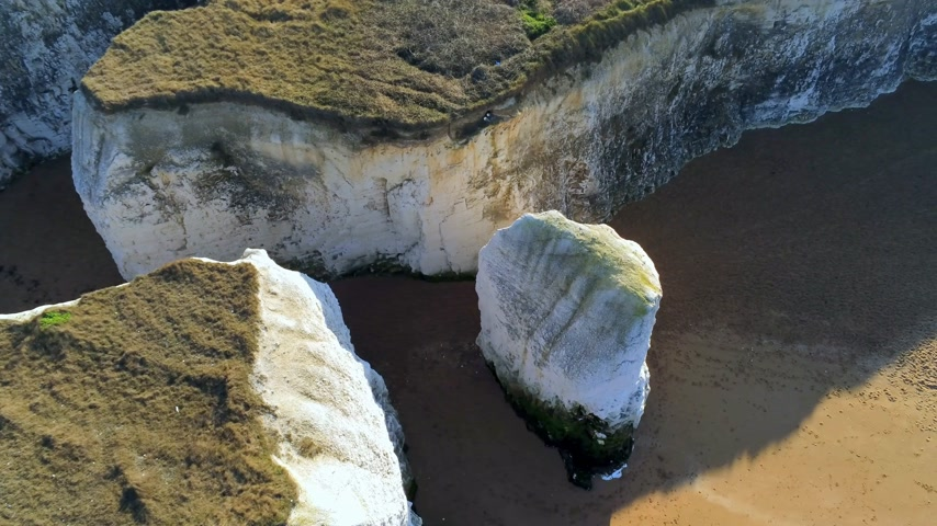 tag : Flight over Botany Bay with its white cliffs in Kent Stock mozgókép