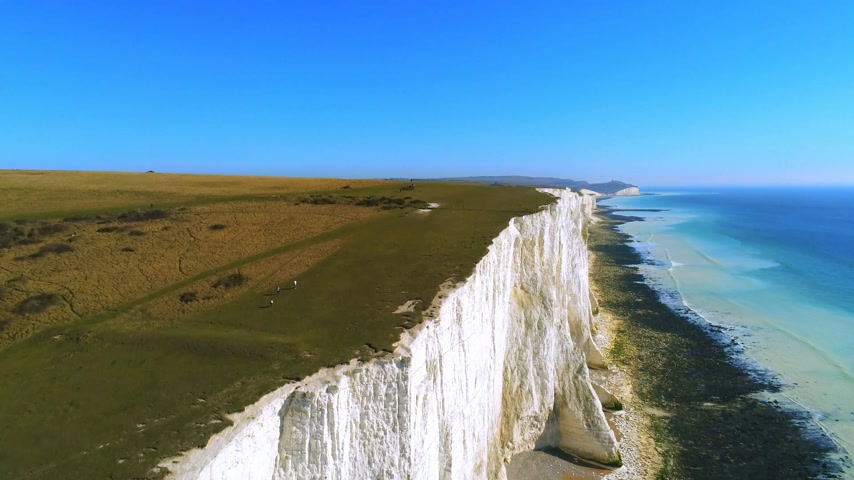 erodált : Flight over the wonderful white cliffs at the South English coast