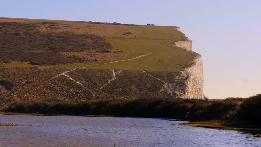erodida : Seven Sisters Country Park at the South coast of England near Eastbourne