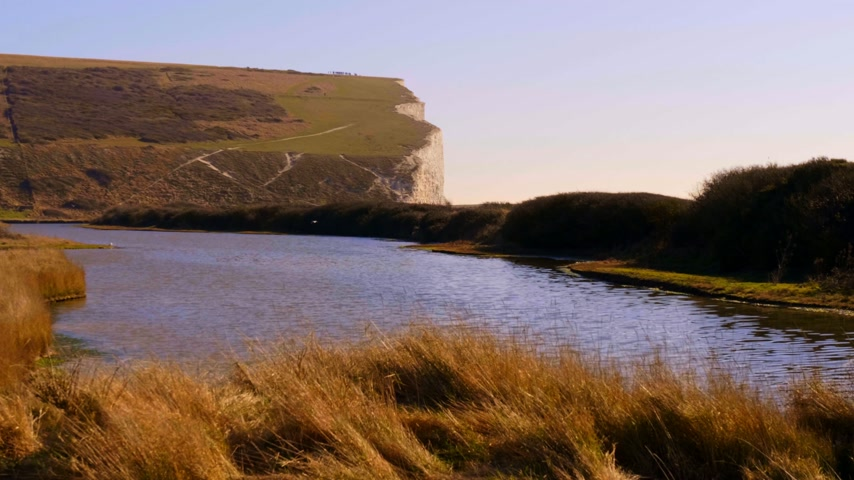 sete : Seven Sisters Country Park at the South coast of England near Eastbourne