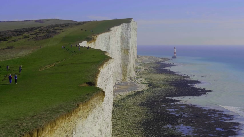 erodida : Famous Seven Sisters White Cliffs at the coast of Sussex England