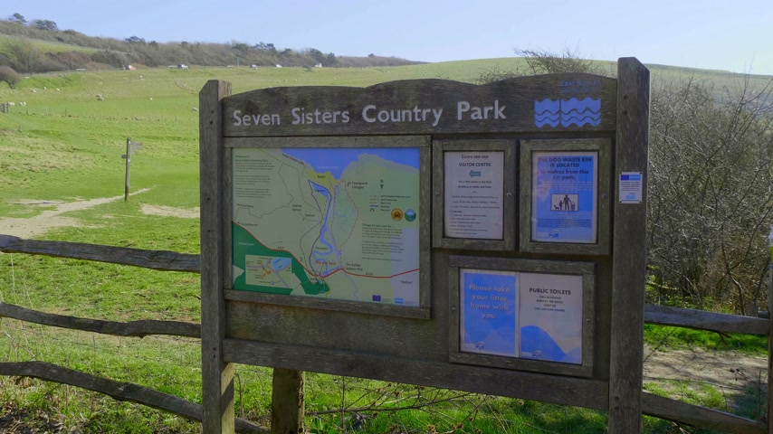 erodida : Seven Sisters Country Park at the South coast of UNITED KINGDOM near Eastbourne - EASTBOURNE, UNITED KINGDOM - FEBRUARY 21, 2019