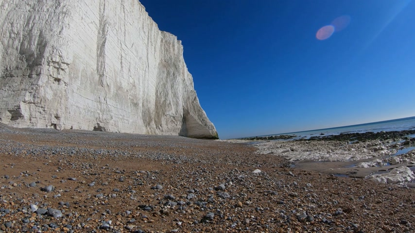 sedm : The white cliffs of Seven Sisters at the south coast of England