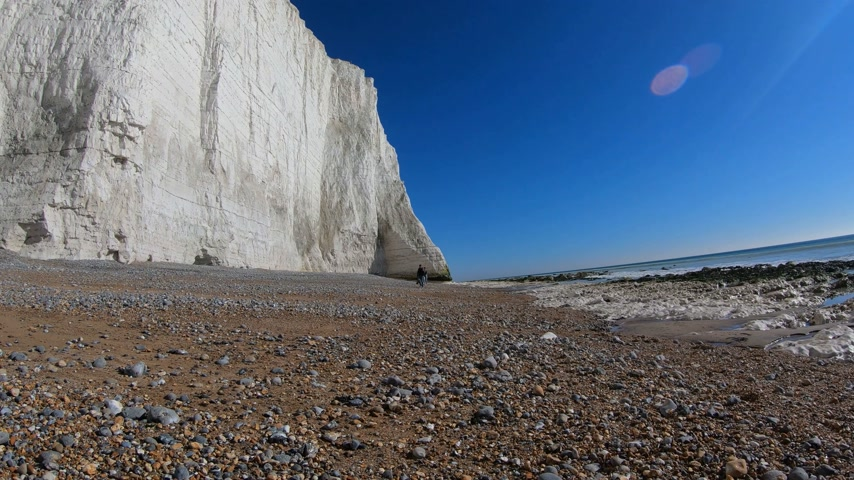 erodida : The white cliffs of Seven Sisters at the south coast of England
