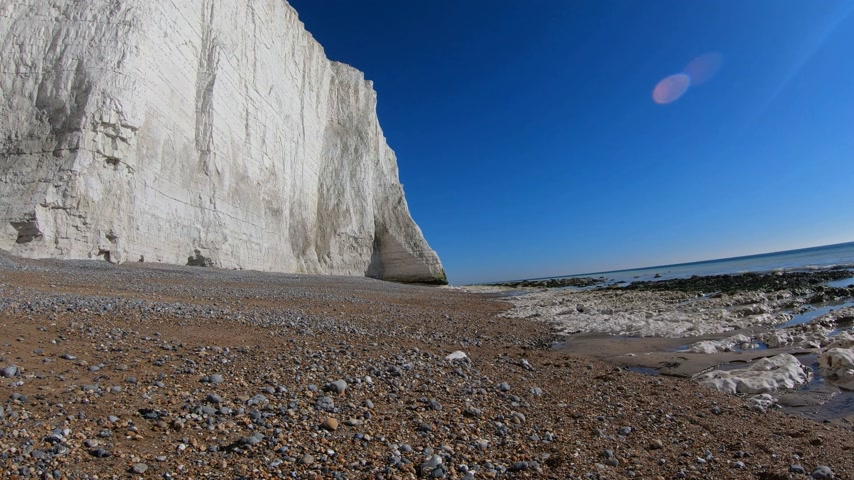 geologia : Cuckmere Haven Beach at Seven Sisters England