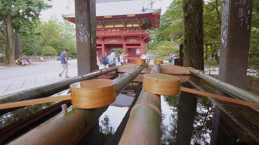 japonská kultura : Ritual purification fountain at an Japanese Temple - TOKYO, JAPAN - JUNE 12, 2018