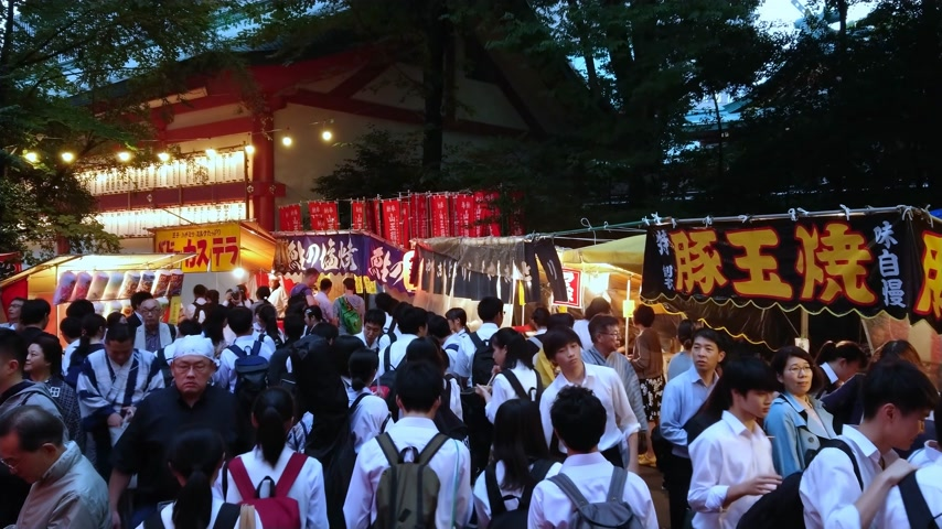 biesiada : Big celebration - annual feast at Hie Shrine in Tokyo - TOKYO, JAPAN - JUNE 15, 2018