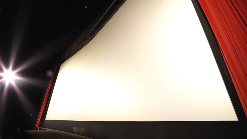 veludo : Cinema - perspective shot of a closing curtain