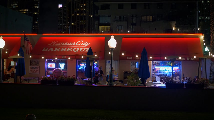 tramway : Kansas City Barbeque Diner à San Diego - CALIFORNIE, USA - 18 MARS 2019