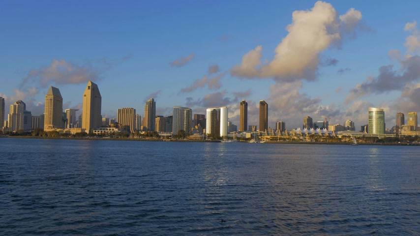 barışçı : Skyline of San Diego at sunset