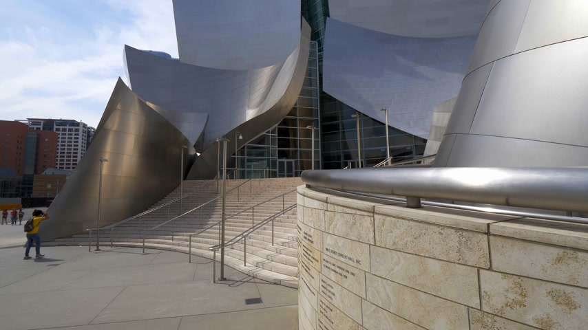 fotográfico : Walt Disney Concert Hall in Los Angeles - CALIFORNIA, USA - MARCH 18, 2019