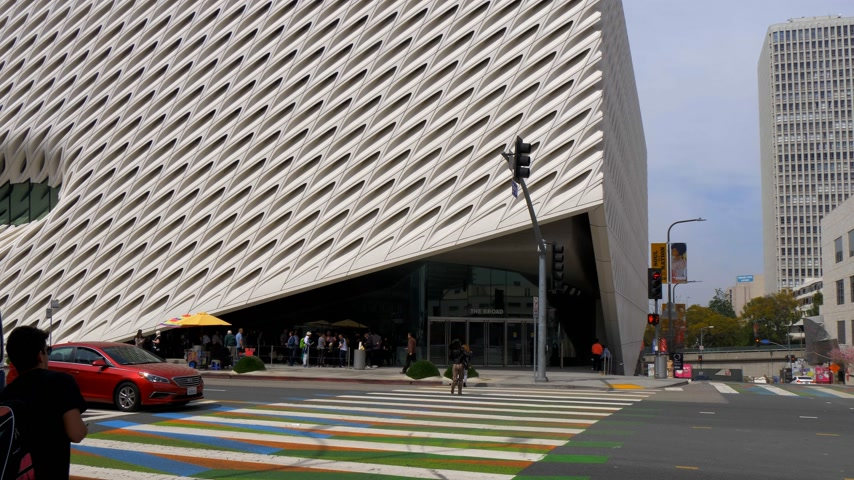 tag : The Broad Art Museum at Los Angeles Downtown - CALIFORNIA, USA - MARCH 18, 2019 Stock mozgókép