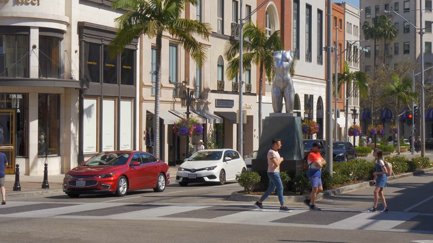 exclusivo : Street view at Rodeo Drive in Beverly Hills - CALIFORNIA, USA - MARCH 18, 2019