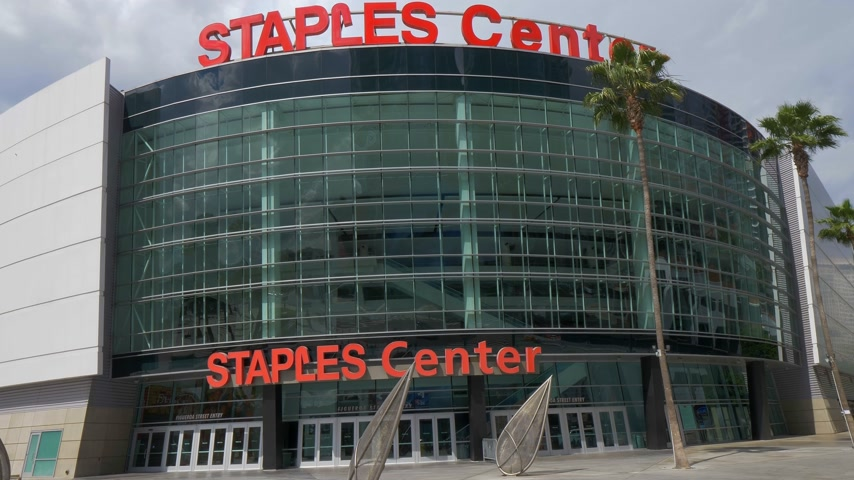 sud americain : Staples Center Arena au centre-ville de Los Angeles - Californie, États-Unis - 18 mars 2019