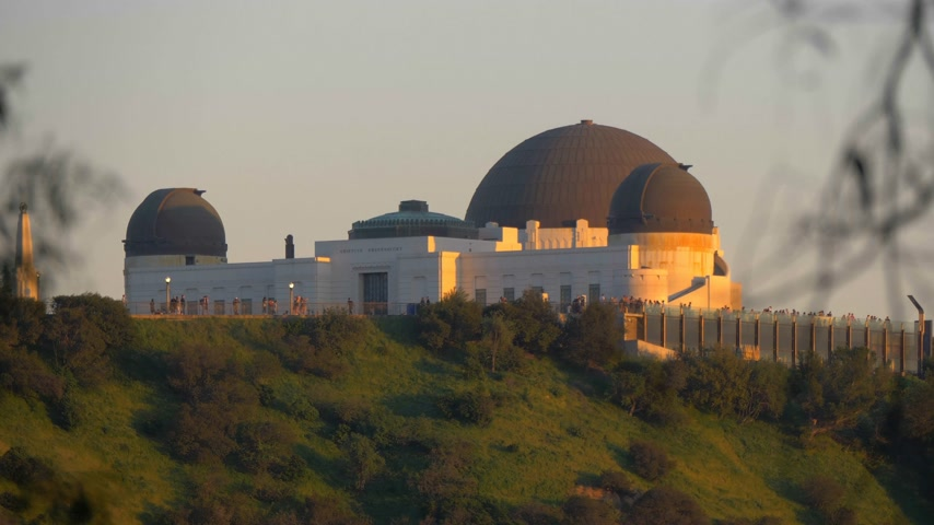 urban exploration : Griffith Observatory in Los Angeles - CALIFORNIA, USA - MARCH 18, 2019