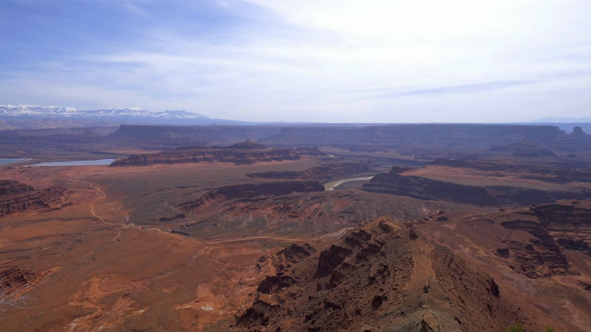 arenisca : El valle infinito en Dead Horse Point en Utah Archivo de Video