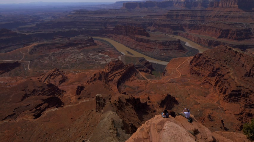 moab : Famous Dead Horse Point in Utah - a tourist attraction - UTAH, USA - MARCH 20, 2019