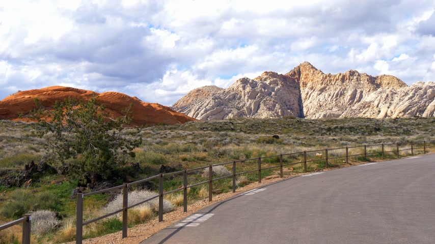 virgem : Scenic route through Snow Canyon in Utah