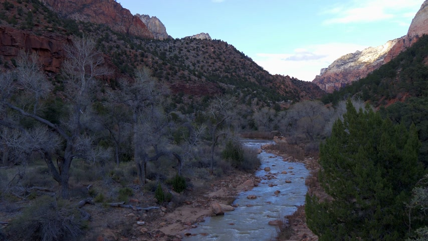 virgem : Scenic route through Zion National Park in Utah