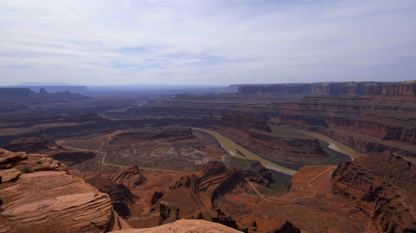 koń : View over Dead Horse Point in Utah