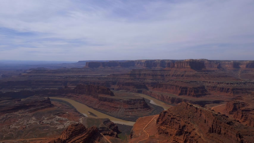 moab : The infinite valley at Dead Horse Point in Utah