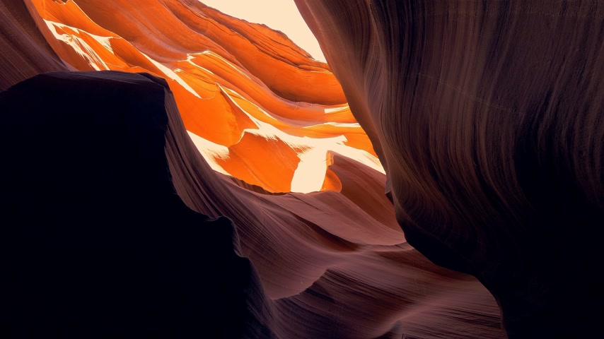 низкий : World famous Antelope Canyon - amazing scenery Стоковые видеозаписи