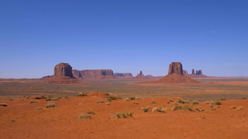 törzsi : Monument Valley in Utah Oljato Stock mozgókép