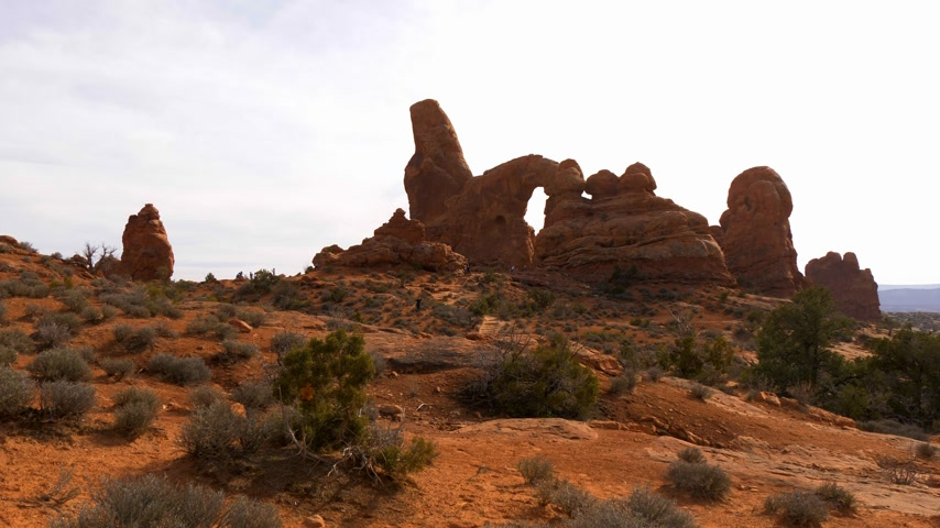 moab : Arches National Park in Utah - famous landmark