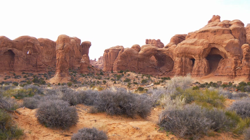 moab : Arches National Park - most beautiful place in Utah Stock Footage