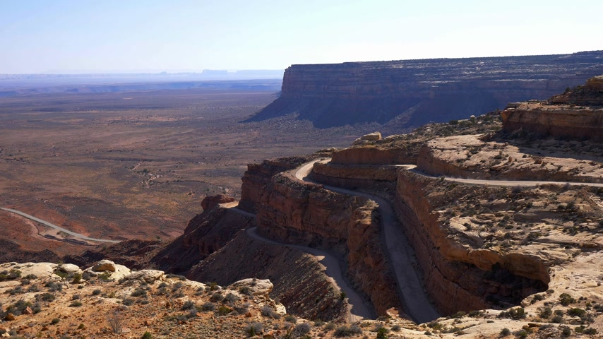 mittens : Breathtaking scenery at Canyonlands National Park Stock Footage