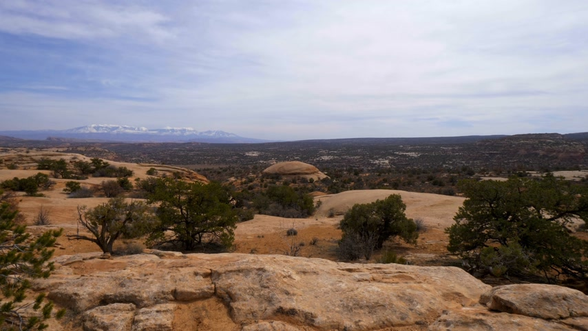 sudoeste : Beautiful valley at Arches National Park in Utah