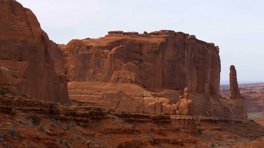 erozyon : Amazing Scenery at Arches National Park in Utah
