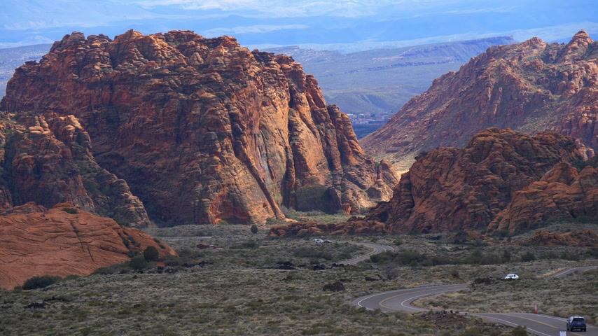 průhled : Snow Canyon in Utah - beautiful landscape