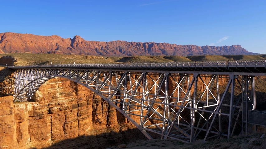 indios nativos : Navajo Bridge over Colorado River