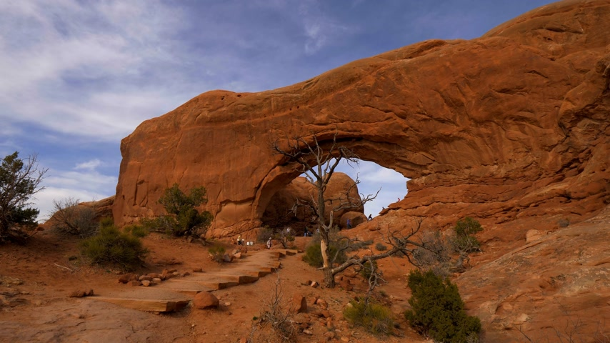 moab : The holes in the rocks at Arches National Park