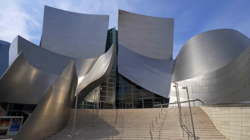 senfoni : Walt Disney Concert Hall in Los Angeles - CALIFORNIA, USA - MARCH 18, 2019