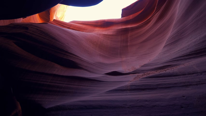 navajo : World famous Antelope Canyon - amazing scenery Stock Footage