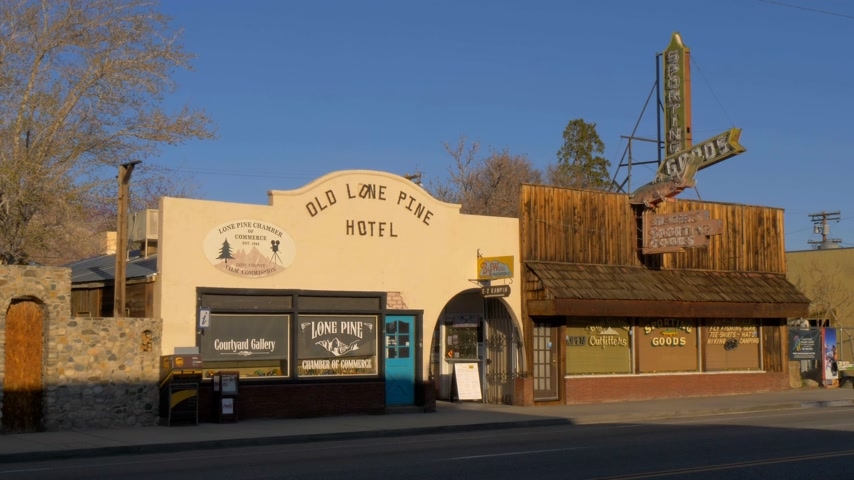 eastern sierra : Old Lone Pine Hotel - LONE PINE CA, USA - MARCH 29, 2019