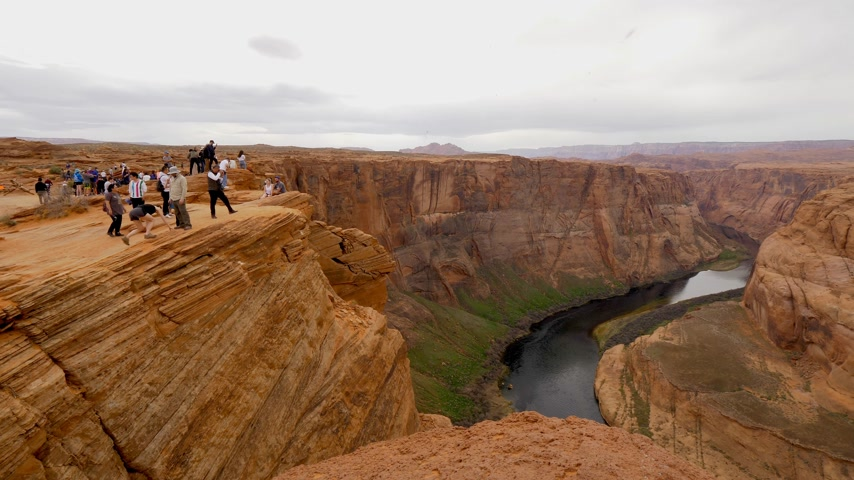 podkowa : Horseshoe Bend in Arizona is a popular landmark - PAGE, USA - MARCH 29, 2019