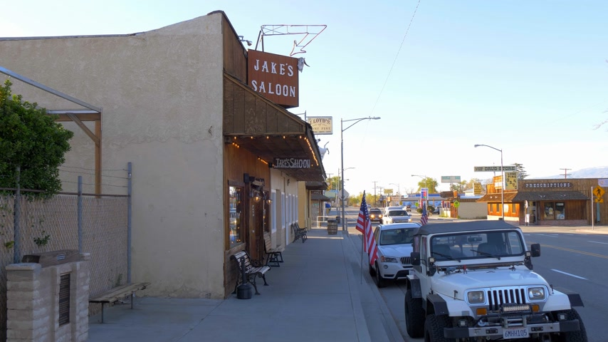 епископ : Jakes Western Saloon in the historic village of Lone Pine - LONE PINE CA, USA - MARCH 29, 2019