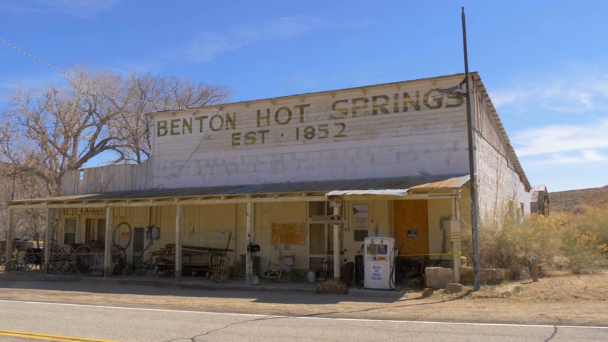 mono : Historic ghost town of Benton in the Sierra Nevada - BENTON, USA - MARCH 29, 2019