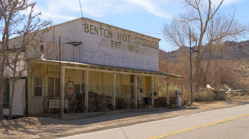sierra nevada : Historic ghost town of Benton in the Sierra Nevada - BENTON, USA - MARCH 29, 2019