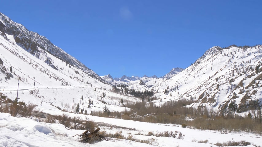 eastern sierra : The snow covered mountains of the Inyo National Forest