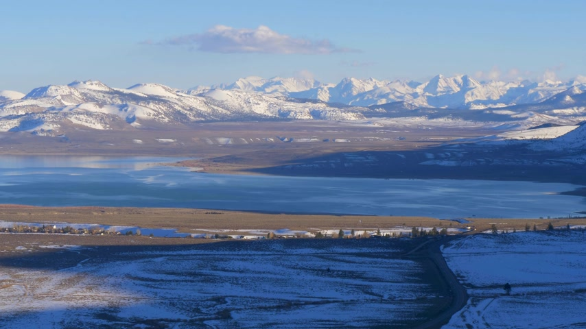 mono lake : Aerial view over Mono lake - a saline soda lake in Mono County
