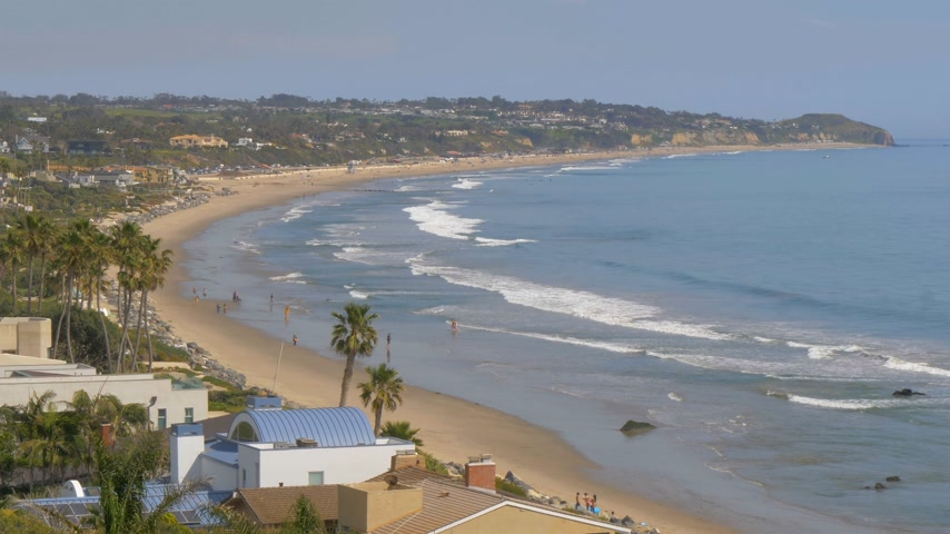 los angeles county : Beautiful coastline of Malibu along the PCH Stock Footage