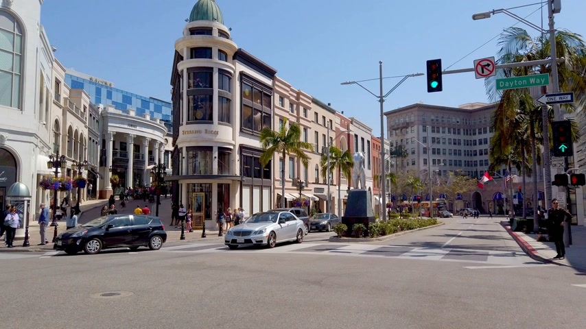 nostalgisch : Rodeo Drive in Beverly Hills - exclusive stores - LOS ANGELES, USA - APRIL 1, 2019