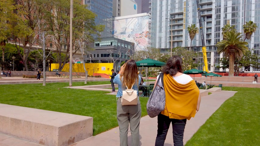 штаб квартира : Pershing Square Los Angeles Downtown - LOS ANGELES, USA - APRIL 1, 2019