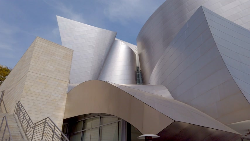 projetado : Facade of Walt Disney Concert Hall - LOS ANGELES, USA - APRIL 1, 2019 Vídeos