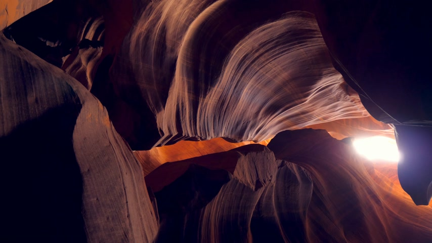 sudoeste : Upper Antelope Canyon in Arizona Stock Footage