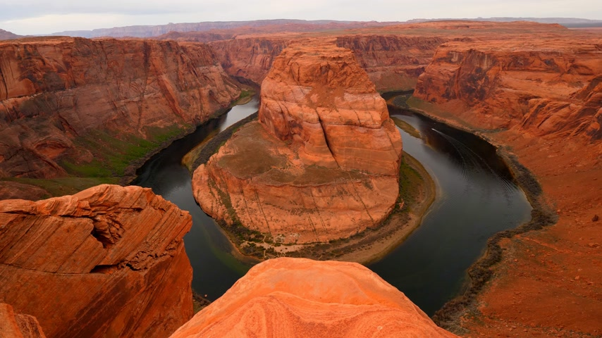 fer a cheval : Vue d'ensemble de Horseshoe Bend en Arizona